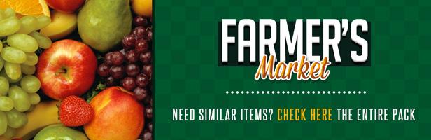 Farmer's Market Table Tent