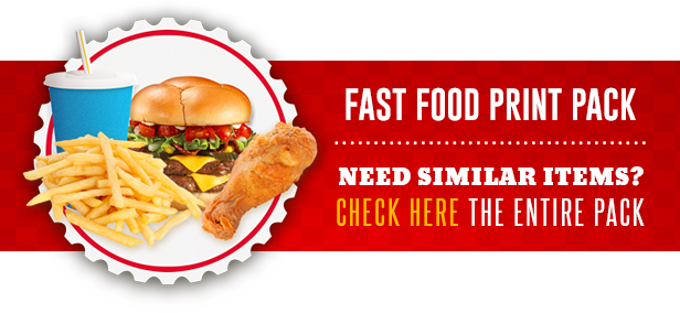 Restaurant Fast Food Menu Bifold Brochure