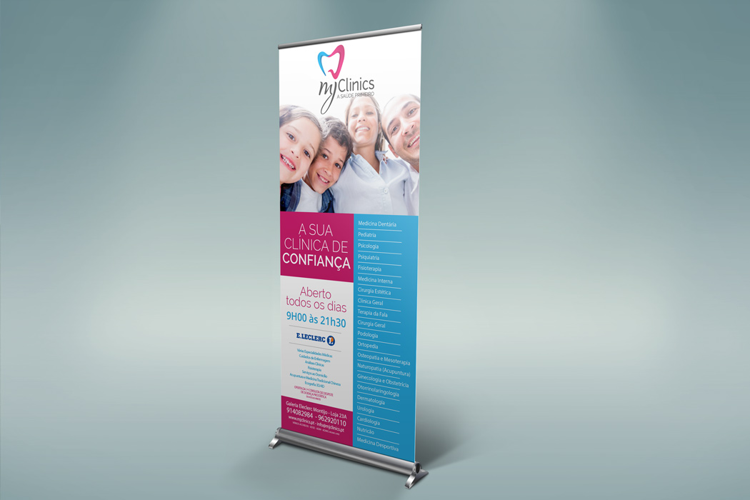 MJ Clinics Roll Up Banner
