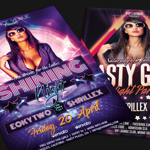 Party and Nightclubs Print Design